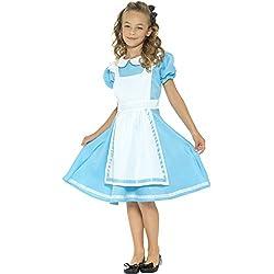 Smiffys Disfraz País de Las Maravillas, Azul, con Vestido, Delantal Cosido y Diadema