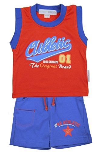 Kinderzeit Athletisch roten Weste & Short Set - 18-23 Months / 86-92 cm / >12kg