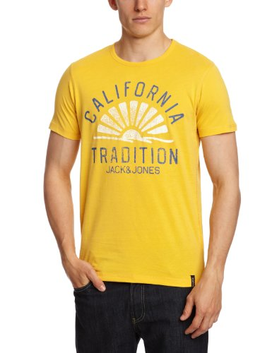 Jack & Jones Men Casual T-Shirt (5711646128571 Yellow Medium XX-Large )  available at amazon for Rs.397