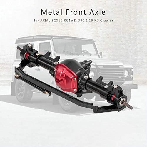Fcostume 1/10 RC Crawler Metal Metal Metal Essieu Avant CNC pour AXIAL SCX10 RC4WD D90 B22 vers E27 | De Nouvelles Variétés Sont Introduites L'une Après L'autre  7d514d
