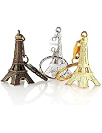 Effiel Tower Set Of 12 Pc Gold Silver & Bronze Metal Keychain
