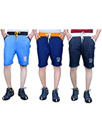 Ezee Sleeves Men's Cotton Shorts Combo (Set of 3) Shorts for Gyming/Jogging/Running/Exercise/Cycling | Shorts for Men | Cotton Shorts for Men | Men's Sports Shorts