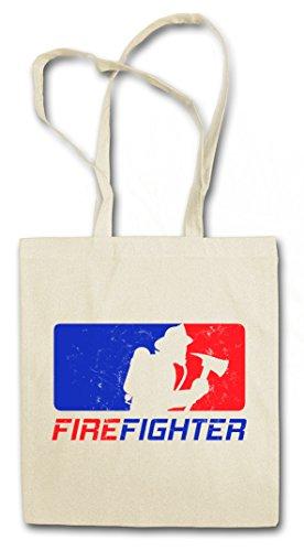FIREFIGHTER ?J? Shopper Reusable Hipster Shopping Cotton Bag Einkauftasche Einkaufstasche Tasche Stoff Stofftasche Jutebeutel Beutel ? Fire...