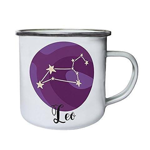 Signes Astrologiques Du Zodiaque Leo Rétro, étain, émail tasse 10oz/280ml j273e