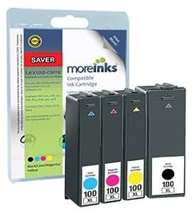 4 cartouches d 39 encre compatibles pour imprimante lexmark. Black Bedroom Furniture Sets. Home Design Ideas
