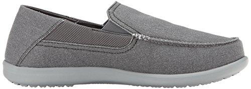 Crocs Santa Cruz 2 Luxe M, Sneakers Basses Homme Noir (Charcoal/Light Grey)