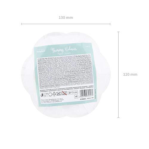 Unbekannt Lot de 6 Assiettes en Carton Yummy Pastel 13 cm