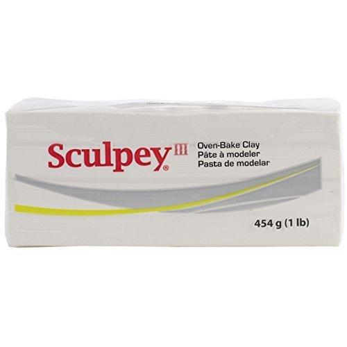 Sculpey Polymer Clay 1 Pound (Polyform Sculpey III Polymer Clay 1 Pound White S31-001 by Sculpey)