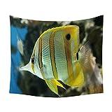 ZGMWXW@ Wandbehang, Meeresfische, Bohemian Art,150 x 130 cm