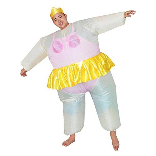 Kword Costume Ballerina Gonfiabile Cosplay di Halloween, per Adulti Rosa