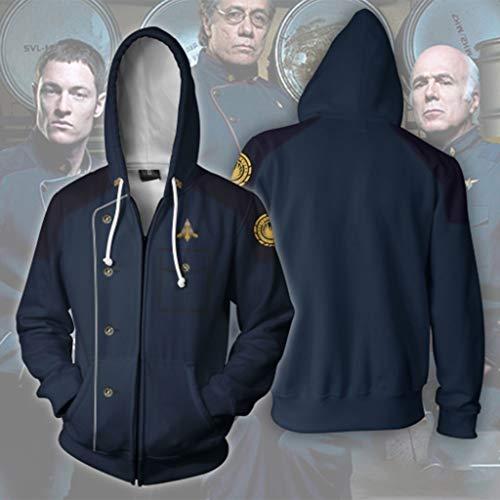 H&m Kostüm Superheld - lxy Cos clothing Erwachsene 3D Hoodie Male Cosplay Cosume Hoodie Superheld Pullover Reißverschluss-Jacken-Sweatshirt H-M