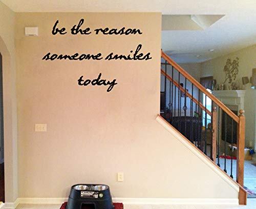 Tiukiu Wandaufkleber, Vinyl, Aufschrift Be The Reason Someone Smiles Today, 30,5 cm breit, Vinyl, Multi, 32 Inch In Width -