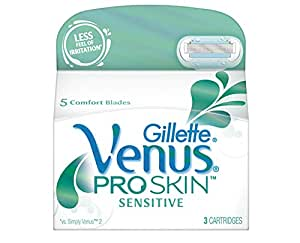 Gillette Venus Proskin Sensitive Razor Blades - Pack of 3