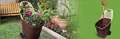Garten Trolley, Gartenkarre aus robustem Kunststoff mit leichtgängigem Rollenpaar auf Metallachse. In Schwarz/ Grün. Mit 65 Liter Volumen! Super praktisch! von Kreher bei Du und dein Garten
