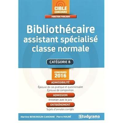 Bibliothécaire assistant spécialisé classe normale