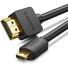 UGREEN Cable Micro HDMI a HDMI 3D 4K Alta Velocidad con Ethernet ARC, para GoPro HERO 3 3+ 4 5 Black 6 Black, Chuwi Hi10,BQ Aquaris M8 M10, Sony Alpha Más Cámaras, Tabletas, Portátiles(1M)