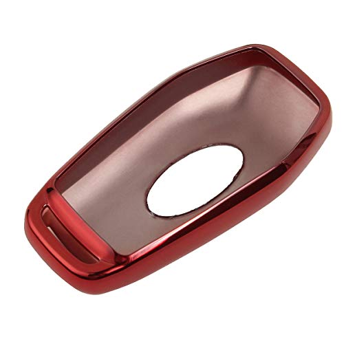 JenNiFer TPU Remote Smart Key Cover Shell Für Ford Fusion Explorer/Lincoln Mkc Mkx-Red