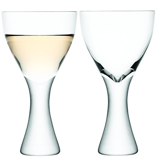 LSA International Elina - Lot de 2 Verres à vin et Eau, clairs, Claire, Wine Glass 300ml
