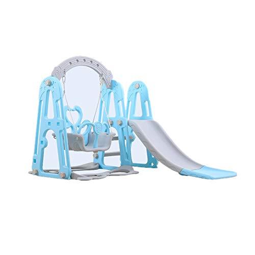 YZH 2-in-1-Indoor-Rutsche Schaukel-Set, umweltfreundliche Materialien, multifunktionale Kinderhaus Spielplatz Spielzeug (Zwei Farben erhältlich),Blue