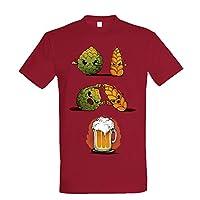 T-shirt unisexe, imprimé avec sérigraphie de haute qualité. 100% coton de 180 g.