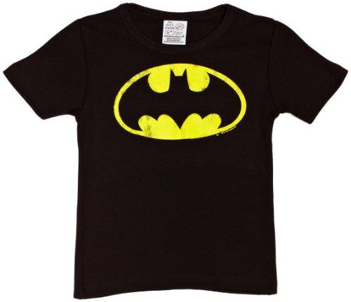 Logoshirt Unisex - Baby T-Shirt, Gr. 8 Jahre (Herstellergröße: 7-9 ans), Schwarz (Tshirt Kind Kostüme Batman)