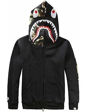 Herren Pullover 3D Hoodie Kapuzenpullover Unisex Kapuzen-Sweatshirt mit Samt