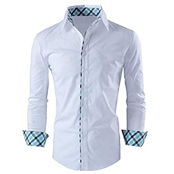 WHITE checks design Fancy shirt: Amazon.in: Clothing & Accessories