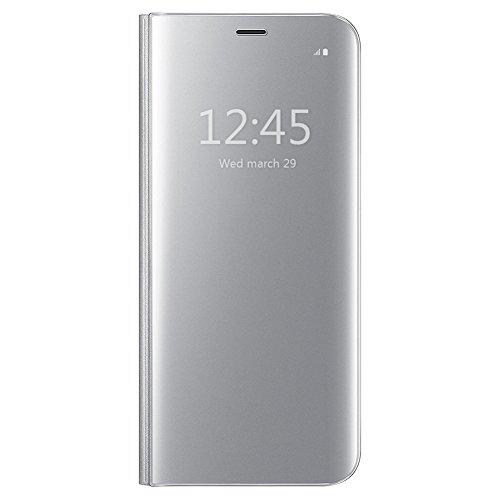 Coque iPhone 7 Phone Etui, Gangxun View Miroir à rabat Smart Case Cover pour iPhone 7, Flip Bookstyle Support Cover Couverture de Mirror Back Coque pour iPhone 7 (Rose) Argent