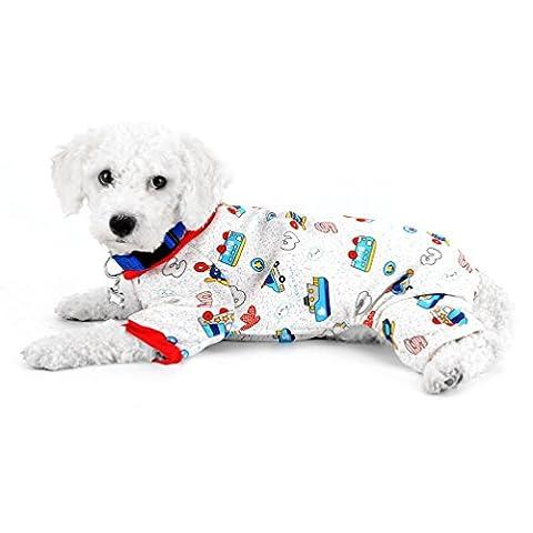 selmai Kleiner Hund Schlafanzüge Fleece gefüttert Auto Pet Puppy Innen