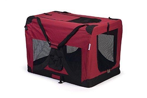 Nylon Transporttasche Hunde Transportbox faltbar Gitterbox Transportkorb XL rot