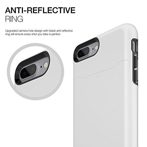 Patchworks Level Card Edition iPhone 7 Plus Custodia per iPhone 7 Plus custodia, iPhone 7 Plus protezione - Military Grade Certified Drop Protection, iPhone 7 Plus Case, Cover iPhone 7 Plus custodia,  Plus White
