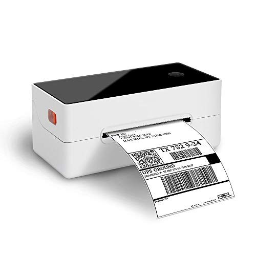Phomemo Thermoetikettendrucker, Barcodedrucker, Desktop Etikettendrucker, Thermodrucker mit 150 mm/s Versanddrucker, Kompatibel mit UPS, FedEx, Amazon, Ebay etw. - 4 '' × 6 '' Etikettendrucker