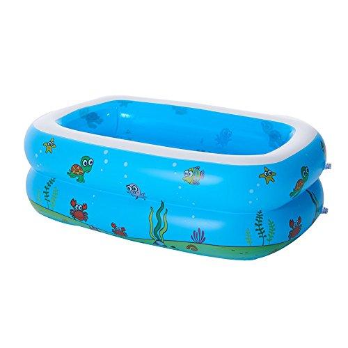 SYY Aufblasbarer Pool Aquarium, Planschbecken, Rectangular Familienpool, Große aufblasbare Wasserspielzeug Luftmatratze, Pool Lounge, Swimmingpool für Garten 110×90×40cm