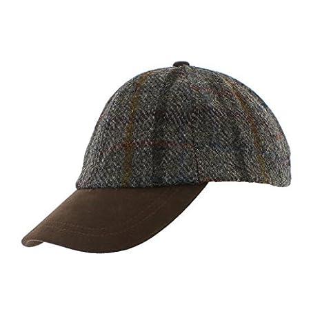 Failsworth Harris Tweed Baseball Cap (Grey (Pattern