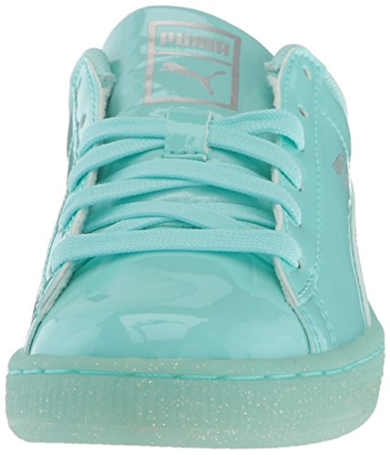 Puma Basket Patent Iced Glit Jr Synthétique Baskets Aruba Blue-Aruba Blue