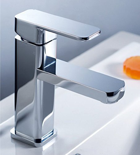 SHLONG Das Publikum Messing Waschbecken Badezimmerschrank Loch-Waschtischarmatur mit warmen und kalten Wasserhahn