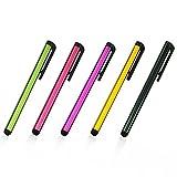 Multi Couleur Universelle de Petite Taille en Métal Stylet Tactile Pen pour Téléphone Portable Cell Smart Téléphone Portable Tablette iPad iPhone Multi Color - 5pcs