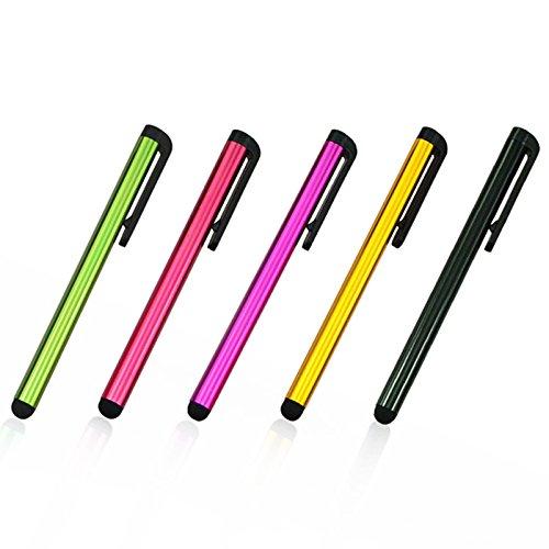 Universal Multi Color Kleine Touch Stylus Metall Stift für Handy Zelle Smart Phone Tablet iPad iPhone Mehrfarbig Multi Color - 5pcs