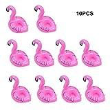 EFORCAR 10pcs Commodité gonflable Flamingo Natation Drink Holder Float Vos boissons In Style Enfants Jouet