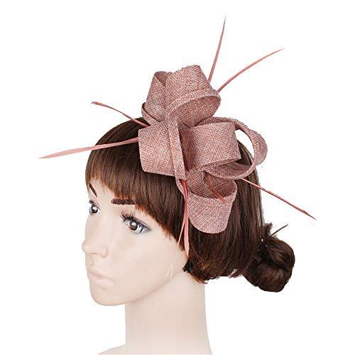 Braun Cocktail Hut - Yiwuhu Eleganter Fascinator-Hut für Damen Damen