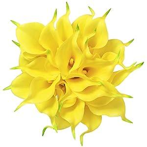 Veryhome 20 Unids Calla Lily Nupcial Ramo de Flores Artificial Flor de Látex Real Touch Home Party Decoración de La Boda