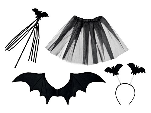 Boland 74529 - Kostümset Fledermaus, Tiara, Stab, Flügel, (Kid Kostüm Bat Halloween)