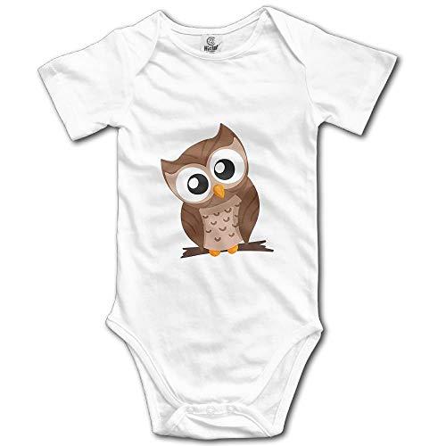 Socksforu Schöne Eule Neugeborene Babys Jungen & Mädchen Kurzarm Strampler Bodysuit Outfits für 0-24 Monate Weiß