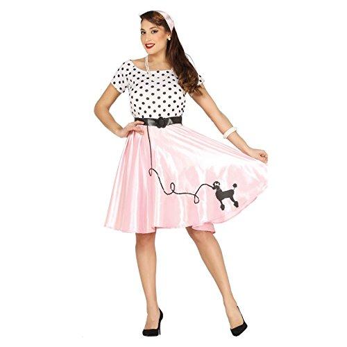 id Pudel girl Rock in Roll in rosa-schwarz-weiß Gr. M - L, Größe:L (Pudel Für Pudel Rock)