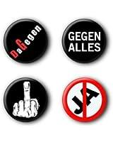 4 Punk Buttons #3 (2,5cm)