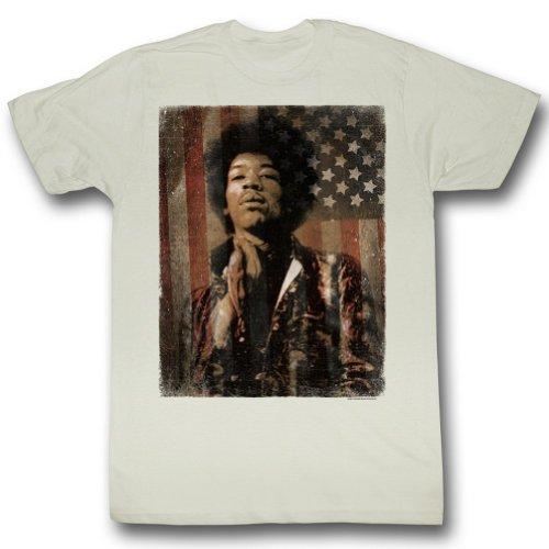 Jimi Hendrix - - Männer Jimerica T-Shirt Vintage White