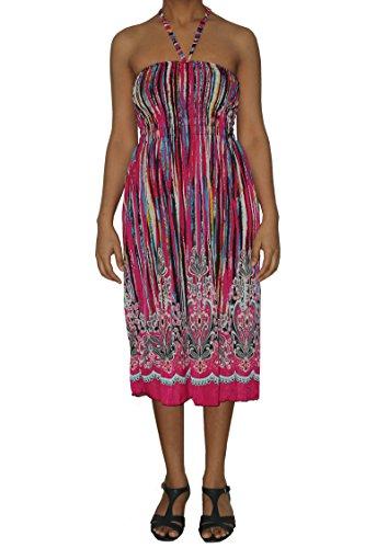 Raivar Damen Kleid Mehrfarbig
