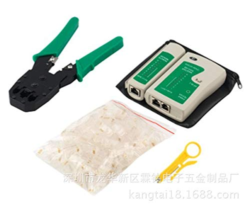 Uzinb 4 Stück Netzwerk-Kabeltester Detector Crimpzange Sets RJ45-Stecker Stecker-Netz-Abisolierzange -