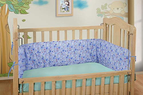 DearJoy Baby Cot Bedding Bumper/Cover (Blue)