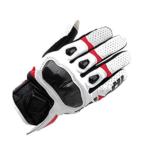 Gloves Touchscreen Motorradhandschuhe Motocross Reithandschuhe Carbon Rennhandschuhe,Red,L -